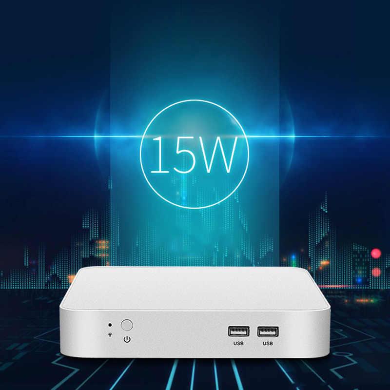 Mini PC In tel Celeron N3150 dört çekirdekli Windows 10 İnce İstemci Mini masaüstü bilgisayar oyun HDMI VGA WiFi HTPC TV kutusu ab tak