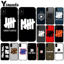 Yinuoda invicto cinco barras tpu silicone caso do telefone capa para apple iphone 8 7 6 s plus x xs max 5 5S se xr 11 11pro max capa(China)