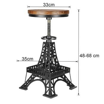 NEUE Vintage Metall Industrie Bar Stühle Höhe Einstellbare Dreh Kiefernholz Top Küche Esszimmer Stuhl Barhocker Bar Stühle