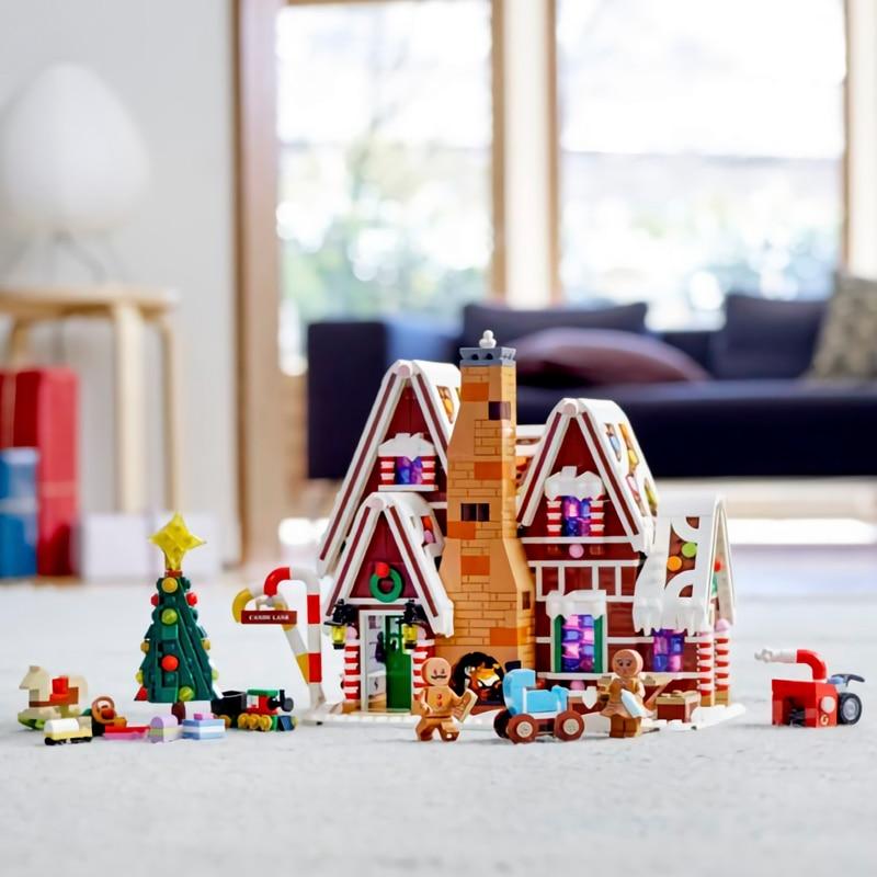 Lepinblocks 78001 New Creator Expert Winter Lepining Gingerbread House 10267 Building Blocks Brick Education Toys Christmas