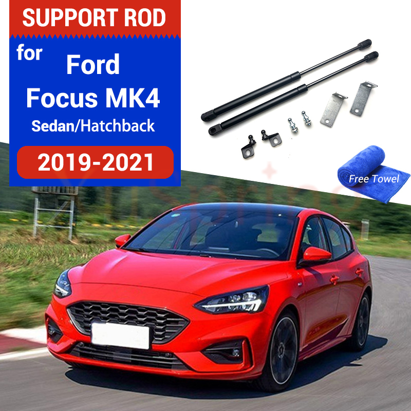 Car Hood Cover Gas Shock Lift Strut Bars Support Spring Hydraulic Rod Accessories For Ford Focus Focus4 MK4 2018 2019 2020 2021