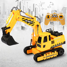 Dropshopping 11CH 1:20 RC Excavator Simulation Remote Control Engineering Excavators Construction Crawler Digger Boys Hobby Toys цена