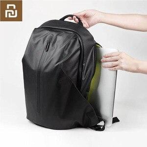 Image 1 - Youpin 90FUN 모든 날씨 기능성 배낭 패션 방수 가방 여행 대학 학교 Bussiness, 블랙/오렌지/블루 H20 #0