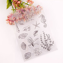 Marine life Clear Stamps Seal for DIY Scrapbooking Card Seahorse Rubber Stamps Making Album Photo Crafts Decoration New Stamps azsg lovely cat clear stamps seal for diy scrapbooking card making photo album decoration supplies
