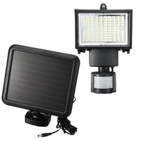 Solar Powered LED Floodlight Spotlight Projector Lamp Infrared Motion Sensor Security Light Lamp PIR Garden Outdoor Lighting