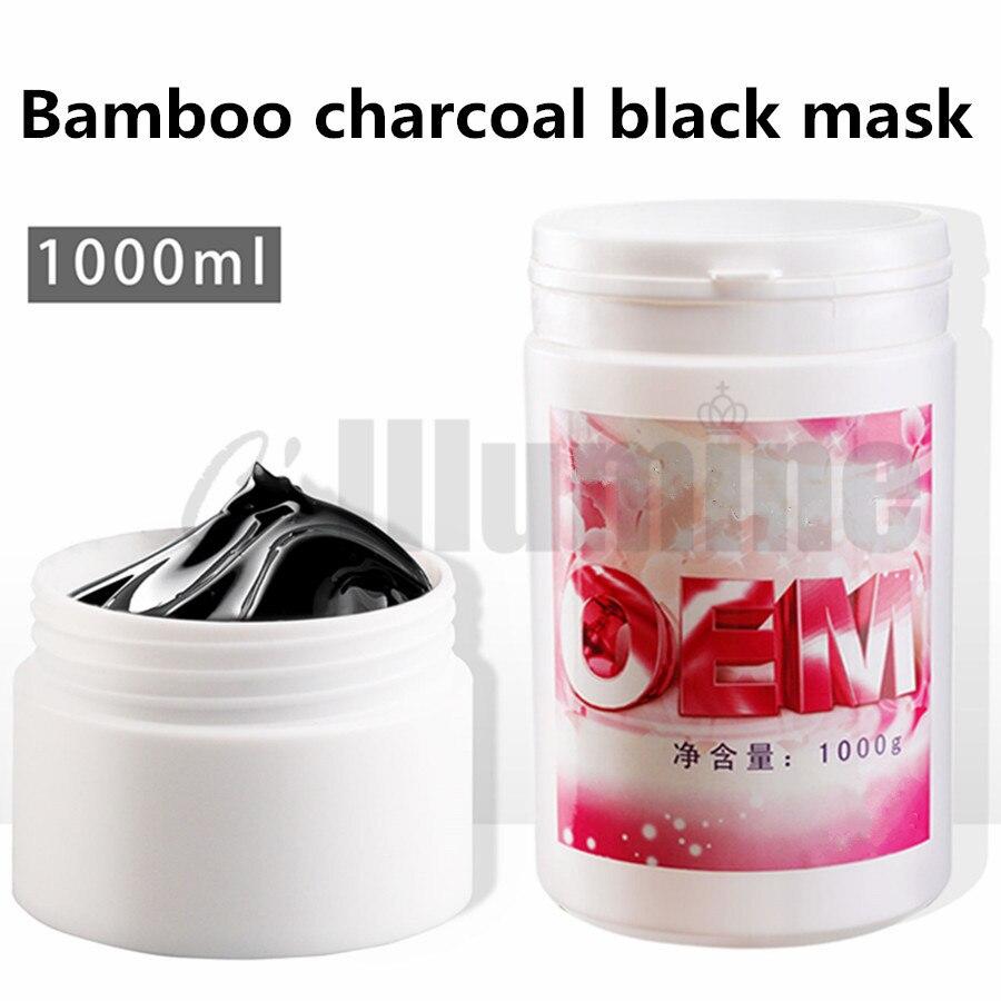 Черная очищение носа пленка для очистки акне 1000 г отклеить бамбук угольная для черных точек маска разрывающий Тип - 4