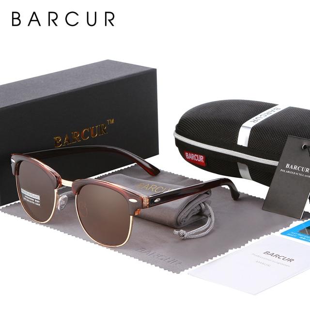 BARCUR Sun Glasses Female Oculos New Polarized Sunglasses Hot Gafas Oculos Mens Personalized Eyewear