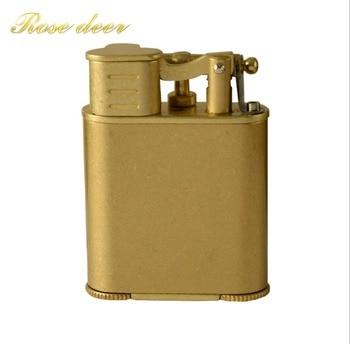Retro Flint Weel Cigarette Lighter Kerosene Oil Lighter Vintage Torch Jet Lighter Petrol Refillable Gasoline Cigarette Lighter фото