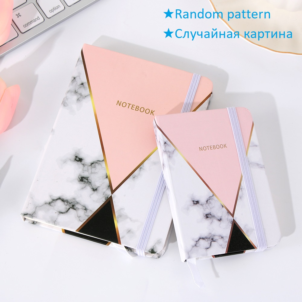 [Random Color!] 1PC Marble Notebook Student Pocket Notepad A5/A6/A7 Office Supplies School Stationery 96 Sheets Diary Notebook