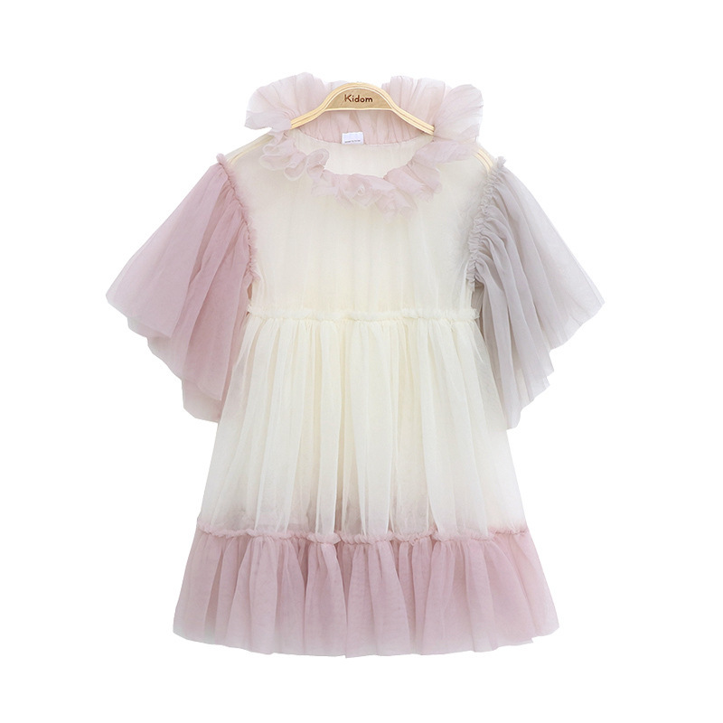 Image 3 - 2020 New Baby Princess Dress Fancy Kids Dresses for Girls Children Lace Dress with Sling Shirt Toddler Clothes 2 Pcs Suit,#5562Dresses   -