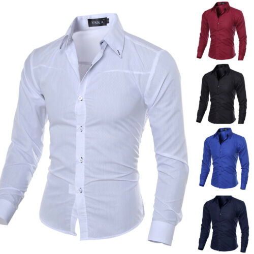 Men Luxury Stylish Formal Shirt Men Dress Casual Luxury Shirts Regular Fit 2019 Hot Sale Men Shirt