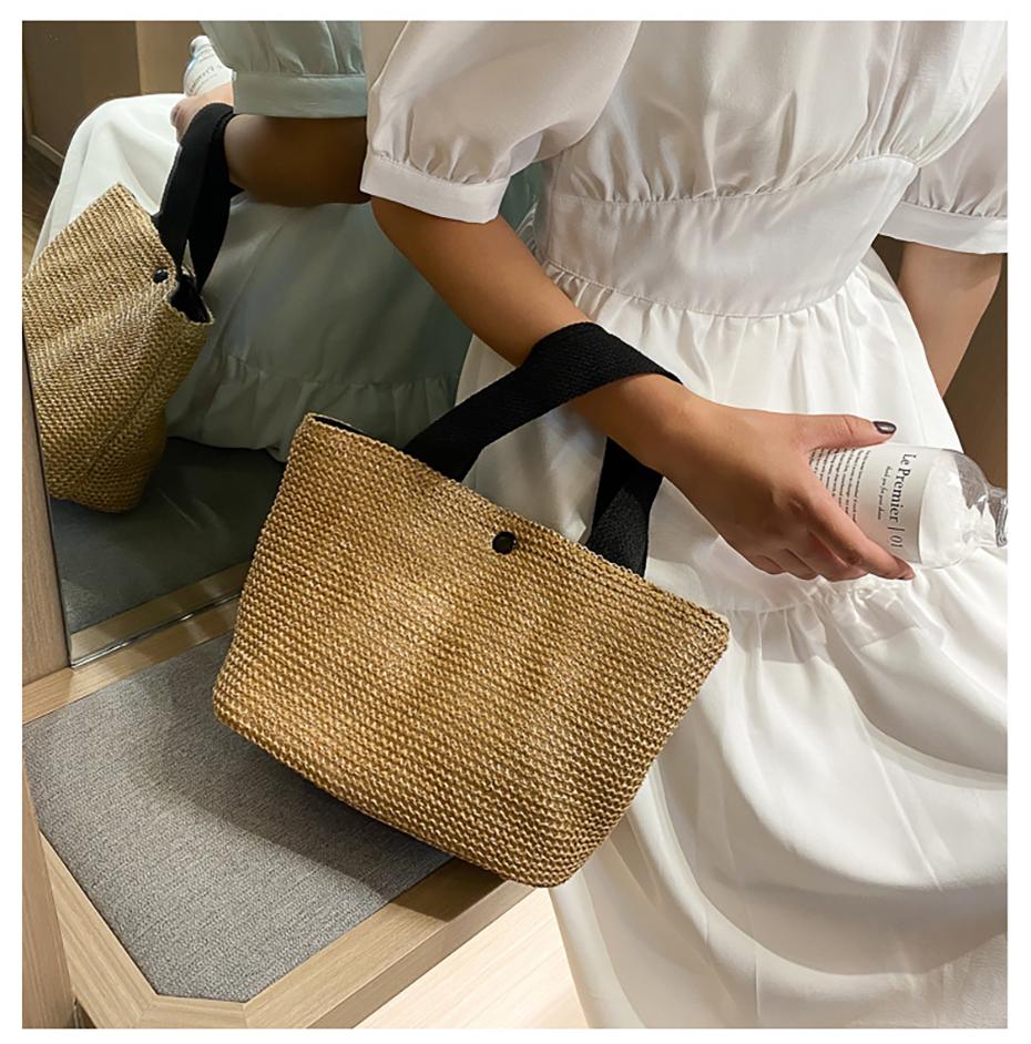 Women's Straw Travel Bag for Summer 2021