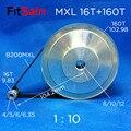 FitSain-MXL 16T + 160T 1:10 ширина 10 мм синхронный колесный шаговый двигатель шкив редуктор