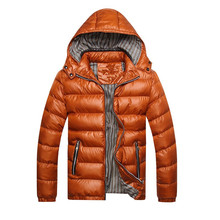 Vogue Winter Men Jacket Fashion Cotton Thermal Thick Parkas Male Casual Outwear Windbreaker Hoodies Brand Clothing 5XL Coats