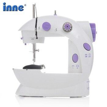 INNE швейная машина мини портативный бытовой Ночник светильник педаль прямой линии ручной стол два набор ниток Электрический