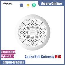 2021 новые Aqara M1S концентратор шлюз с цветовой моделью RGB светодиодный ночной Светильник Zigbee 3,0 Siri голос APP дистанционного Управление домашних ...