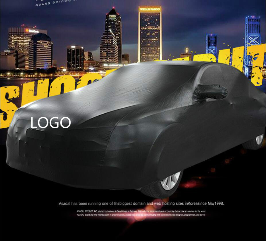 Customized Outdoor Car Cover Waterproof Car Cover PU Elastic Dust-proof Auto Surface Protector Free For LOGO