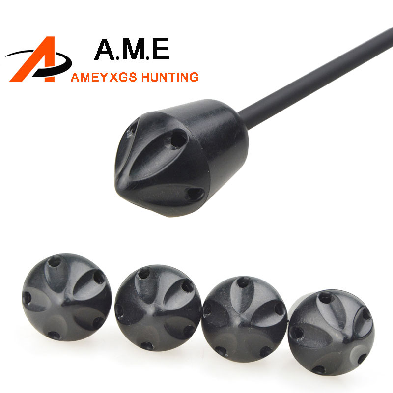 6pcs CS Game Archery Rubber Arrowhead Target Broadheads Practice Arrow head Tips Points Curve Hunting Youth Gaming Accessories image