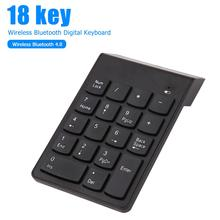 Mini 18 Keys Wireless Bluetooth Number Pad Ultra-thin Digital Computer Numeric Keypad Keyboard for Laptop PC Klavye Teclado