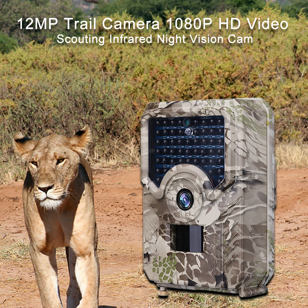 12MP Jagd Trail Kamera 1080P <font><b>HD</b></font> Video Scouting Infrarot Nachtsicht Wilden Kameras IP66 Wasserdichte Outdoor Wildlife Kamera image
