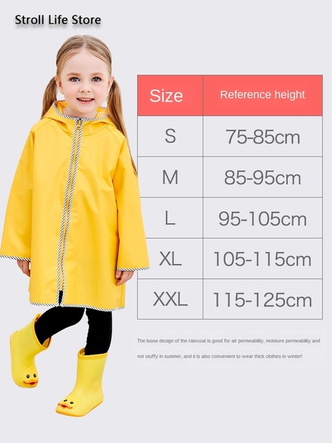 Cute Yellow Raincoat Kids Waterproof Rain Poncho Rain Coat Plastic Suit School Thick Boys Rain Jacket Cover Impermeable Gift 4