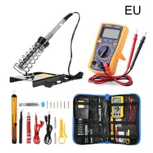 Soldering Iron Kit Adjustable Temperature 200-240V 60W LCD Display Multimeter