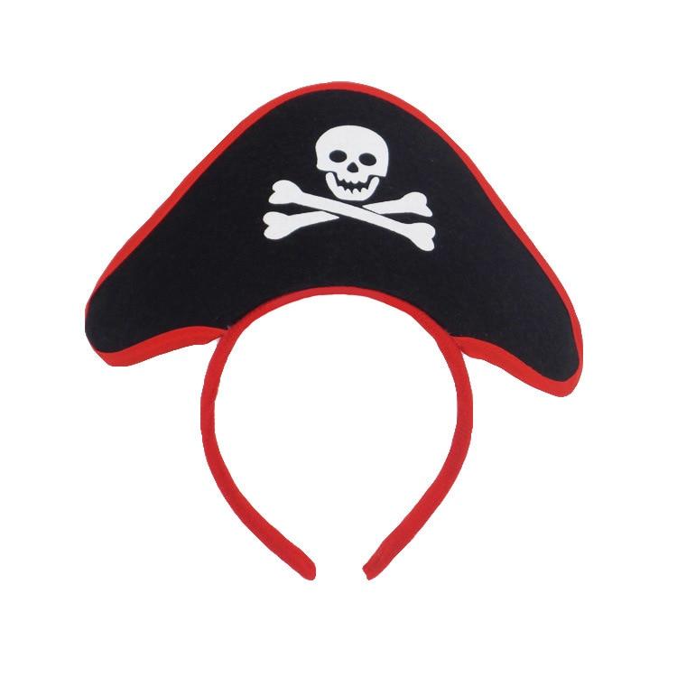 Srunchie Halloween Pirate Headband Ghost Festival Hair Hoop Masquerade Props Children Hair Accessories Mickey Minnie Ears