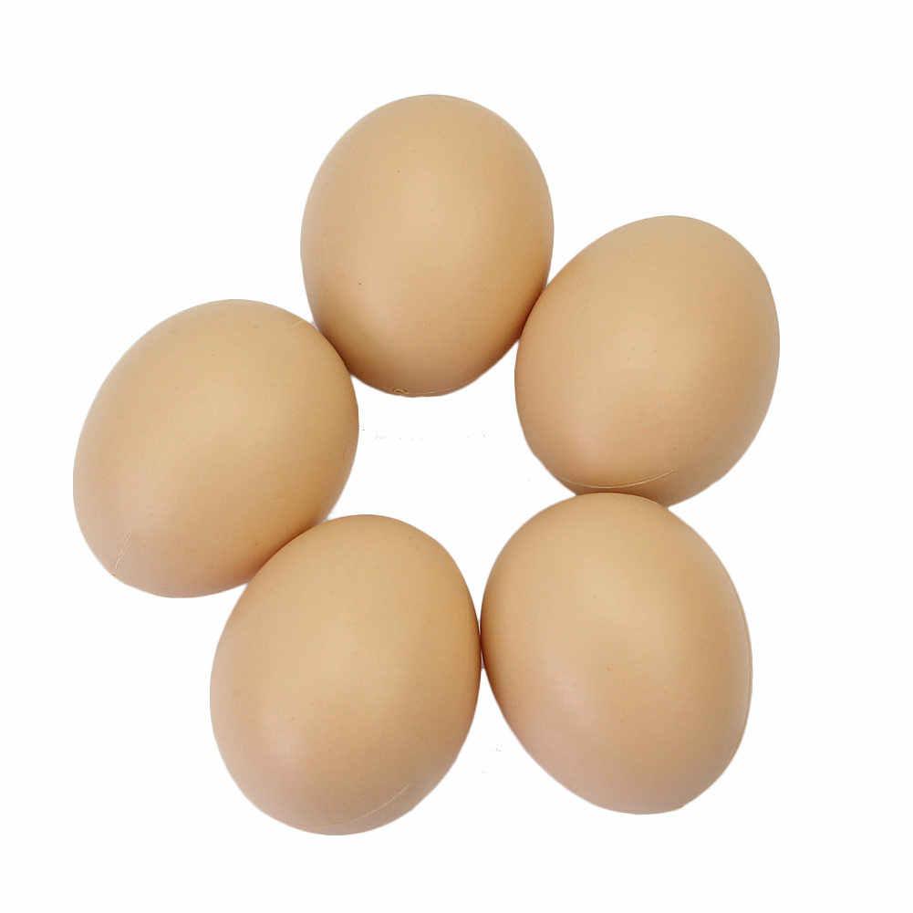 5 個編家禽シミュレーション人工フェイクフェイクプラスチック卵鶏アヒルガチョウハッチ繁殖