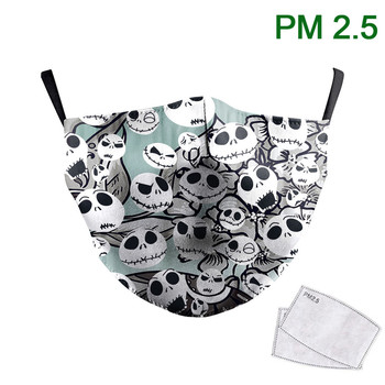 The Nightmare Before Christmas Face Masks 3D Print Masks Fabric Reusable Washable Masks Mouth-Muffle PM 2.5 Protective Dust Mask