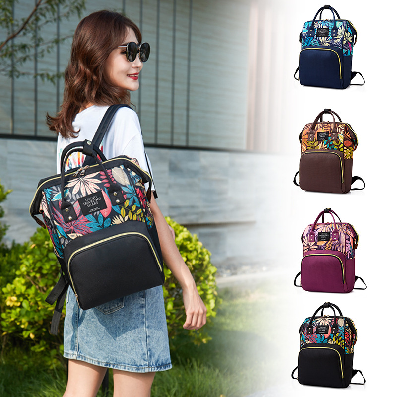 Multi-functional Waterproof Diaper Bag Pregnant Women Nursing Shopping Anti-Theft Backpack Light Large-capacity Backpack