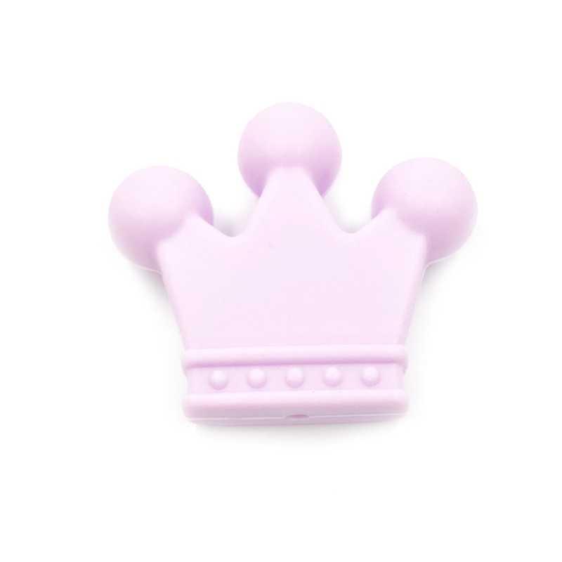 Warna Acak 1 Pcs Mahkota Silikon Manik-manik Perhiasan Bakat Silikon Teethers Kalung Bayi Tumbuh Gigi Manik-manik untuk Perawat Perhiasan