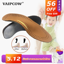 Leather Kids Orthopedic Insoles for Children Shoes Flat Foot Arch Support Orthotic Pads Correction Health Feet Care Insole все цены