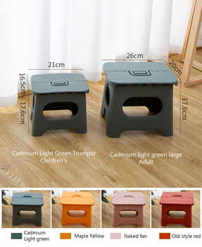 Folding stool home folding chair portable outdoor travel simple kitchen seat home space saving living room furniture strong