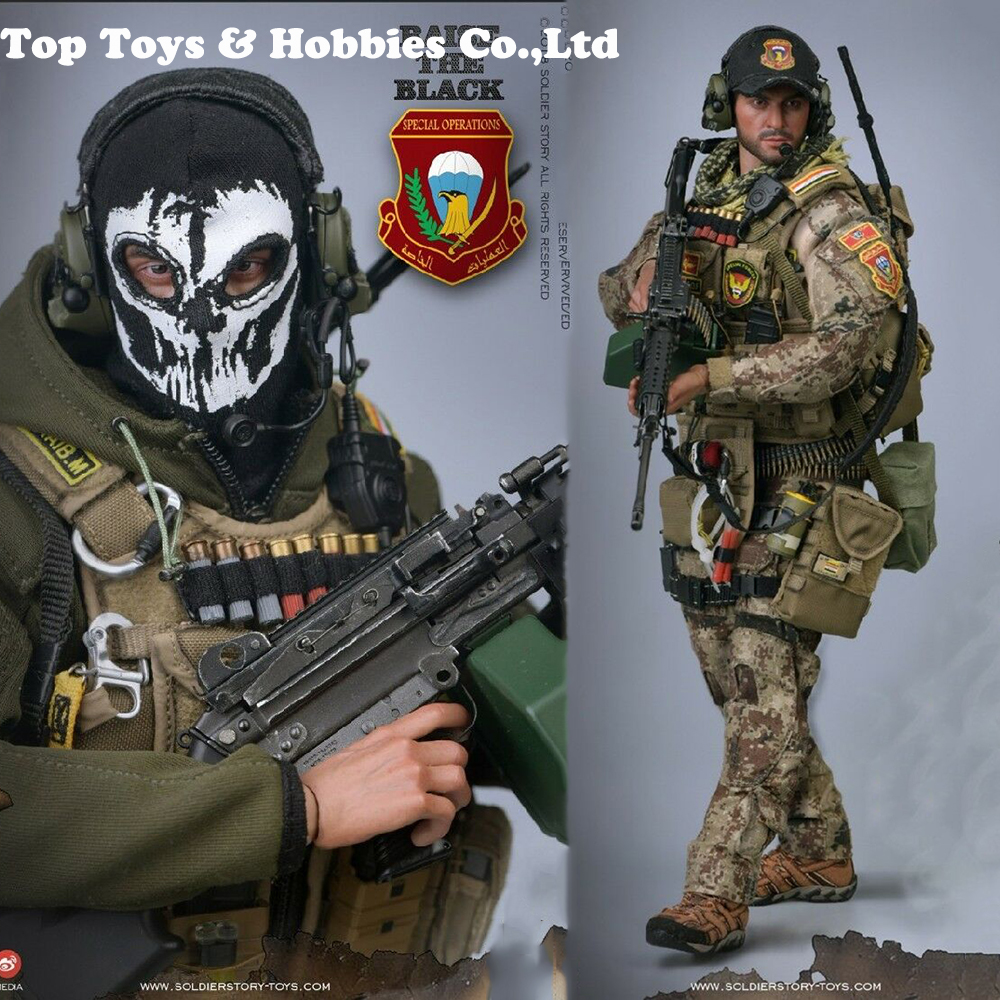 Full Set 1/6 Soldier Story SoldierStory SS107 Iraqi Special Forces ISOF M249 Soldier 12'' Figure Model Action Figure Toys