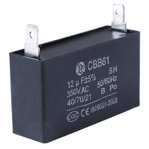 Image 2 - CBB61 12uF 50/60Hz Generatore di Motore Del Ventilatore 350VAC Condensatori Nero 12uF Generatore Condensatore Generatore