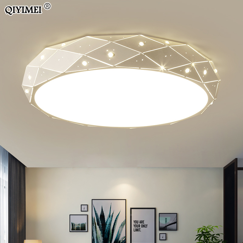 Lustre en fer lumières pour chambre d'enfant salon Dimmable avec télécommande Luminaire Luminaria AC85-260V luminaires d'intérieur