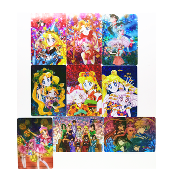 9pcs/set Sailor Moon Mother And Daughter Pasteable Toys Hobbies Hobby Collectibles Game Collection Anime Cards