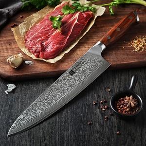 Image 5 - XINZUO 10 인치 요리사 칼 일본 다마스커스 강철 부엌 칼 호텔과 레스토랑을위한 최고의 품질 전문 Gyuto 칼