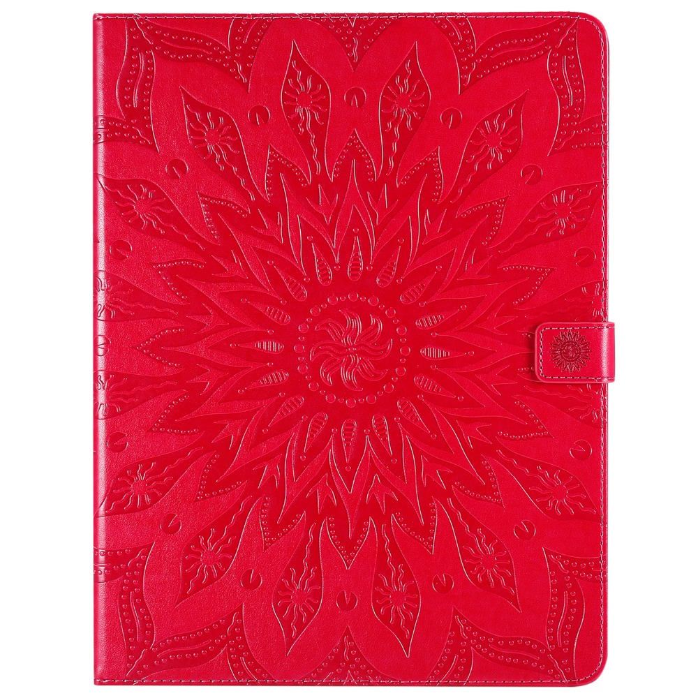 3D 2020 Skin Embossed Cover Case for Flower Protective Shell iPad 9 12 Leather Pro