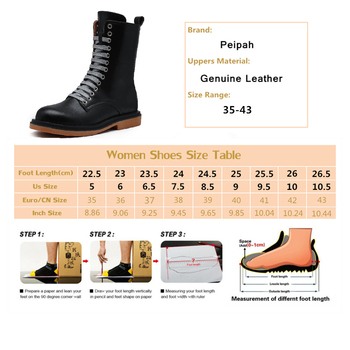 PEIPAH Winter Ankle Boots Women s Genuine Leather Shoes Woman Rubber Short Boots Ladies Low