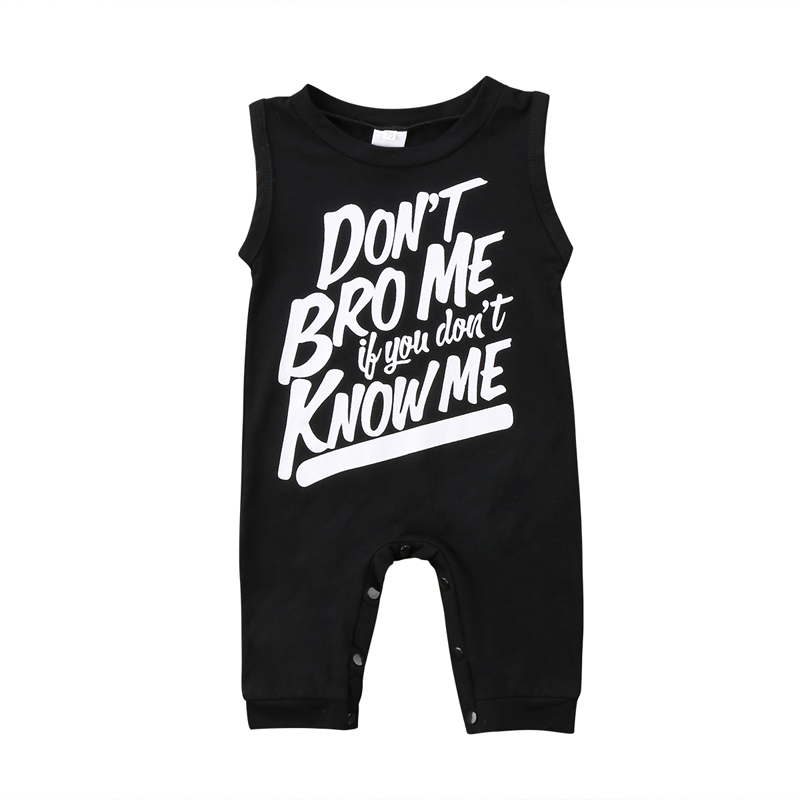 Pudcoco US Stock New Fashion Lovely Infant Toddler Baby Boy Girl Clothes Print Letter Romper Jumpsuit Outfits Clothes