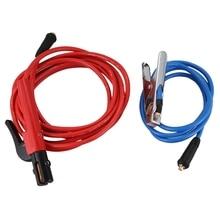 Комплектующие сварочных аппаратов 200 ампер держатель электрода 5 м кабель+ 200 ампер зажим заземления 2 м кабель, оба с Dkj10-25 разъемом