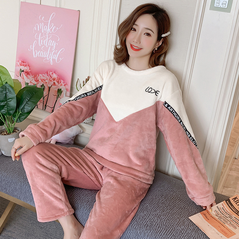 Betyline 2019 New Winter Pajamas For Women Sleepwear Warm Flannel Long Sleeves Pajamas Cute Animal Homewear Thick Homewear 132