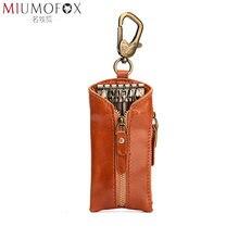 Мужской кошелек для ключей из натуральной кожи мужской держатель