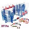 257 adet DIY parça araba Diecasts oyuncak araçlar demiryolu araba yol montajlı eğitici oyuncaklar çocuklar için
