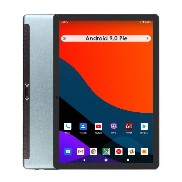 2020 버전 10 인치 안드로이드 9.0 파이 3G 전화 통화 태블릿 32 기가 바이트 eMMC 듀얼 카메라 5.0MP 1280x800 HD 화면 와이파이 GPS 태블릿 선물