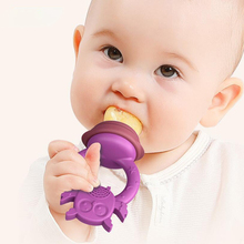 5Pcs Baby Fresh Fruit Pacifier Teether Silicone Fresh Food Feeder Nibbler Parts