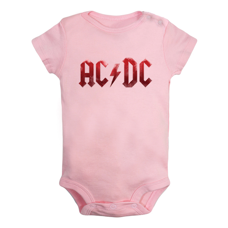 Rock Band ACDC U2 Alternative Rock Band Newborn Baby Boys Girls Outfits Jumpsuit Printing Infant Bodysuit Clothes Cotton Sets