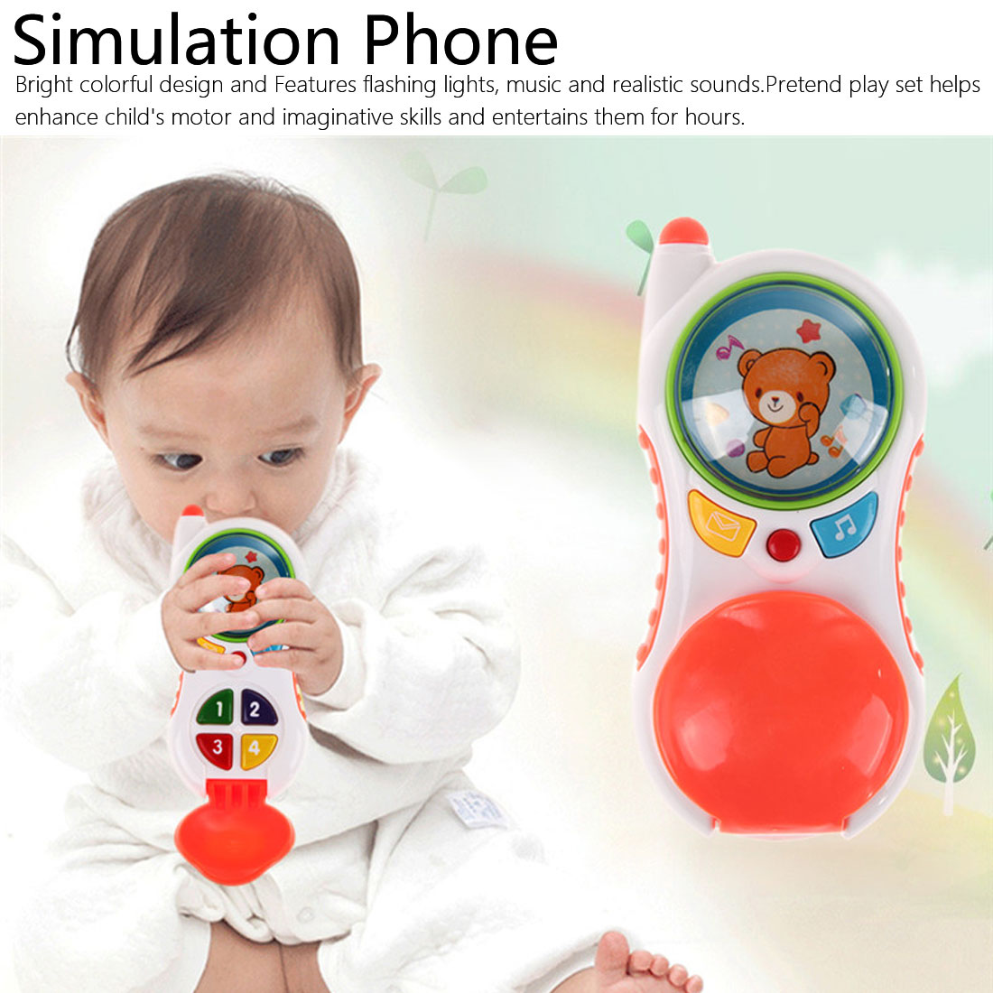 Baby Funny Toys With Sound And Light Child Music Phone Learning Study Baby Cell Phone Toys Educational Toy Promotion