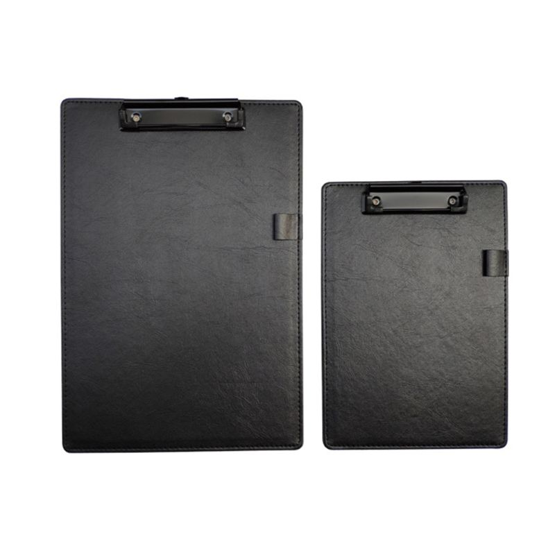 PU Leather A4 A5 File Paper Clip Board Writting Pad Folder Document Stationery